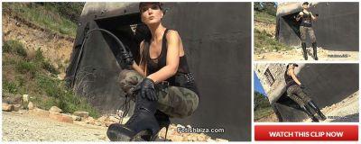 FetishLiza – Military leather boot licker
