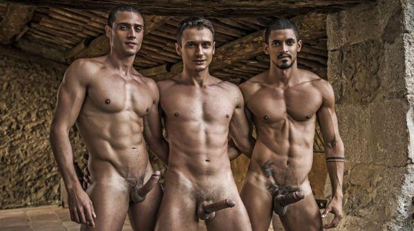 LR - Ibrahim Moreno, Javi Velaro, Alex Kof - Piss Play In Barcelona