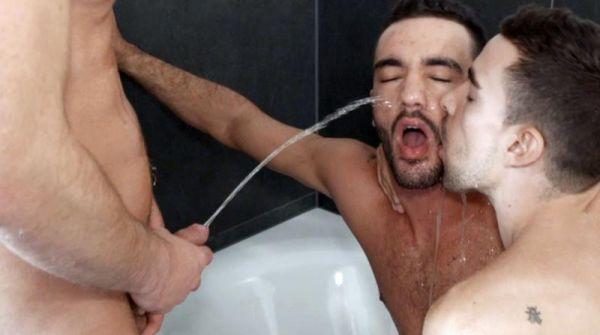 LR - Raw Piss sc2 - Alejandro Alvarez, Josh Milk, And Toby Dutch - Raw Piss Threesome
