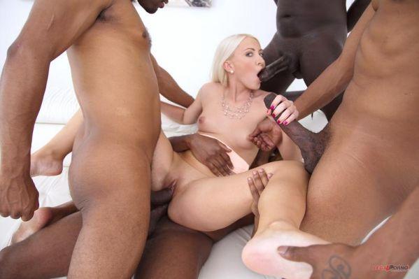 Helena Moeller - Blonde slut Helena Moeller anal DP with four big black dicks SZ2229 (HD/2019) by LegalP0rno.com