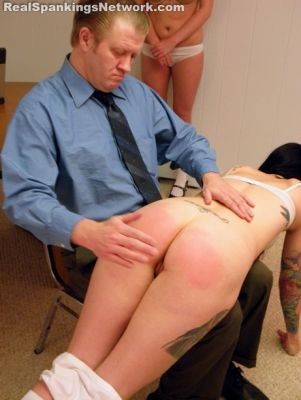 RealSpankingsNetwork - Jade and Riley Spanked for Poor Progress Reports