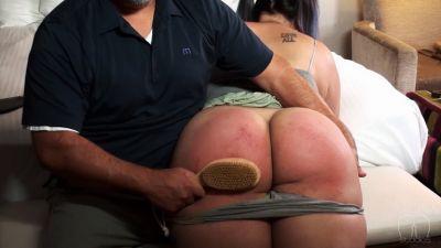 AssumethePositionStudios - Bare Bottom Bubble Butt Hairbrush Blistering