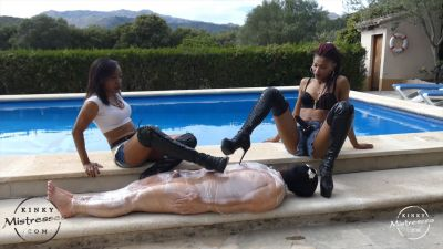 KinkyMistresses – Punished in Clingfilm – Governess Painless, Bijoux Chocolate