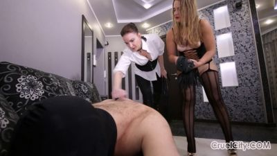 CruelCity – Mistress Olivia and Mistress Nicole Whip a Slave Together