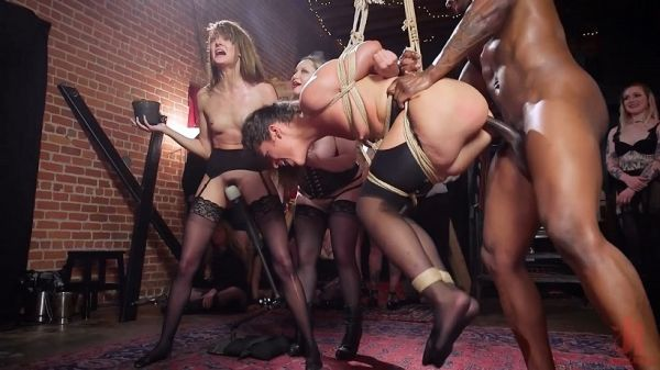 Masochistic Anal Sluts Suffer and Squirt For BDSM Party