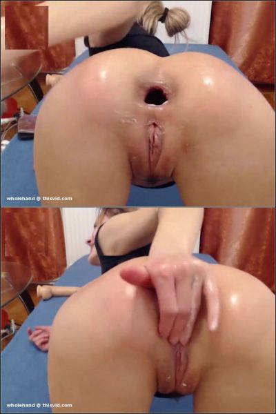 Kitty25 - ruined her girl anus gape in doggy pose (HD/2019) by Chaturbate.com