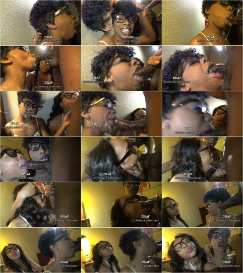 Clip4Sale - Dick Sucking Lips And Facials - DSLAF – Pretty Rebel And Swoon-Glitter Lips Blowjob Classic Part 2 [FullHD 1080p]