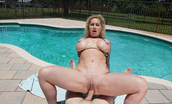 Ryan Conner Gets a Creampie by The Pool 4k