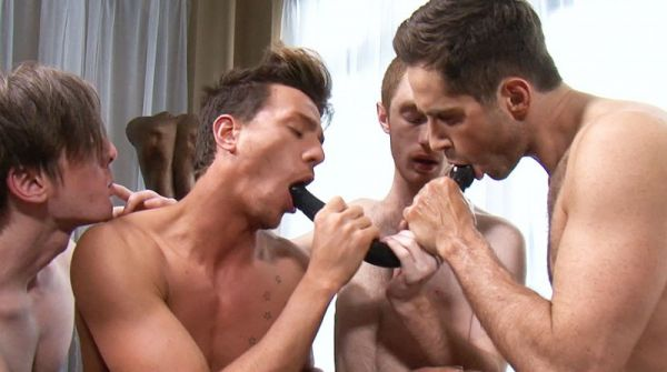 LR - Michael Lucas and His Pornstars Fool Around with Dildos