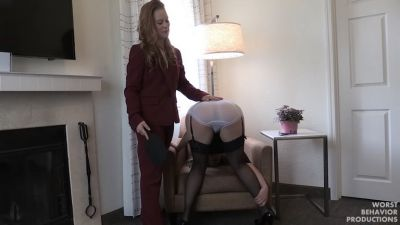 Juliette Spanked, Paddled in Wet Panties, Caned and Penalty Swats Part One