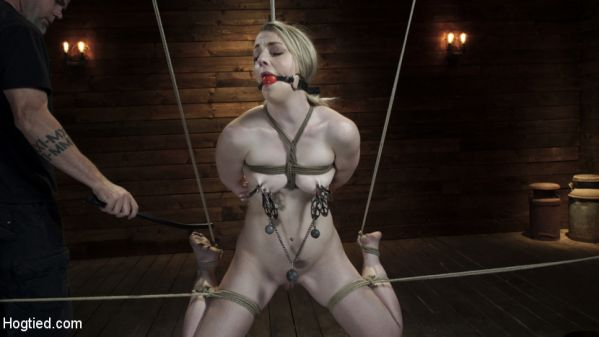 Kate Kennedy - Kate Kennedy is Brutalized in Extreme Bondage and Made to Cum (HD 720p) Cover