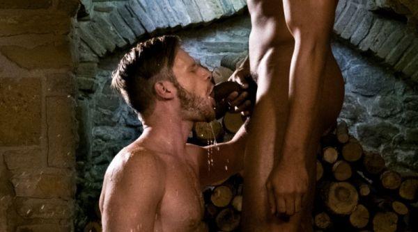 LR - Brian Bonds Sucks Up Piss From Sean Xavier's Big Black Cock