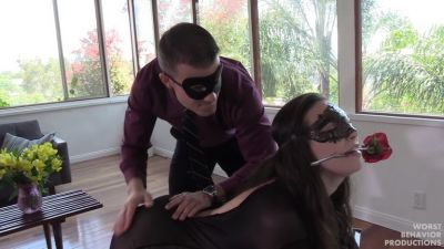 Masks Part One - The Seduction, Her Bath and Catsuit Spanking