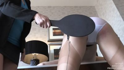Arielle Spanked Paddled in Wet Panties Hairbrushed