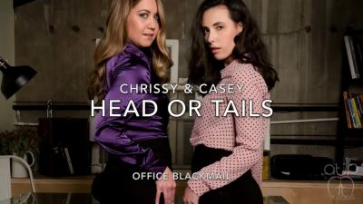 Head or Tail - Office Blackmail Starring Casey Calvert and Chrissy Marie