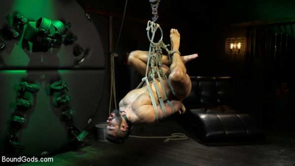 BG - Franco gets FUCKED! New slave flogged and fucked by Sharok