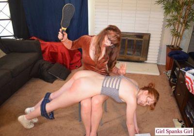 GirlSpanksGirl – 08/01/19 Full Cherry Gets a Hard Spanking From Her Sister