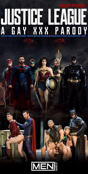 MN - Justice League - A Gay XXX Parody Part 4 - Brandon Cody, Colby Keller, Francois Sagat, Johnny Rapid, Ryan Bones