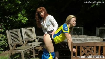 CheerleaderSpankings – Lucy Meets Her Match