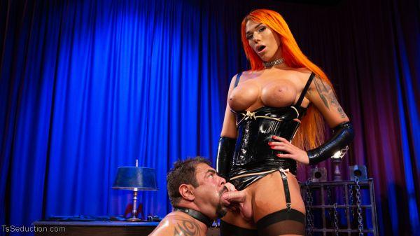 TsSeduction: Aspen Brooks, Draven Navarro - Draven and The Duchess: Aspen Brooks punishes horny beefcake slave [HD/720p]