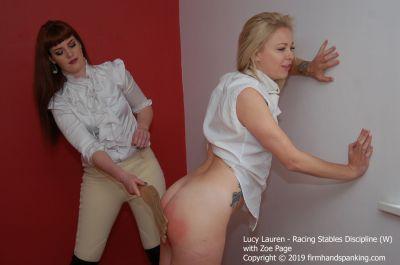 FirmHandSpanking - Lucy Lauren - Racing Stables Discipline - W