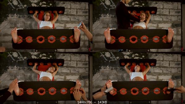 Tickling 249-Leya goes crazy – Tickle hell in stocks and all toes tied