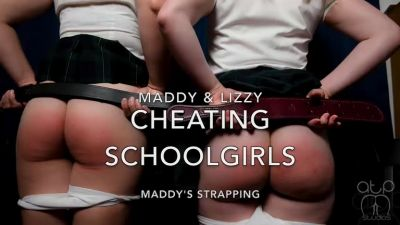 Cheating Schoolgirls - Maddy's Bare Strapping