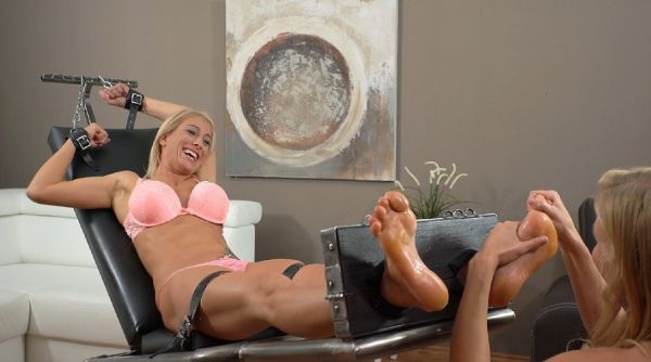 Extremely Ticklish Fitness Milf