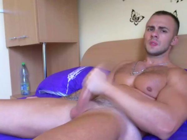 KG - Stephane, sexy sport guy shows his hard cock on cam