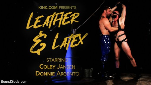 BG - Leather & Latex - Muscle Stud Colby Jansen Dominates Donnie Argento