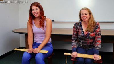 RealSpankings – Two girl School Swats