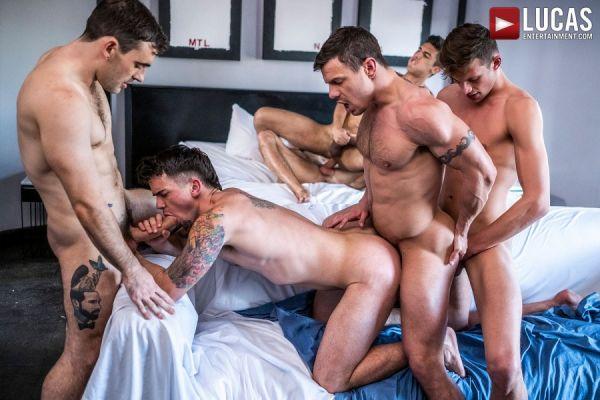 LE - Max Arions Bareback Double-Penetration Orgy
