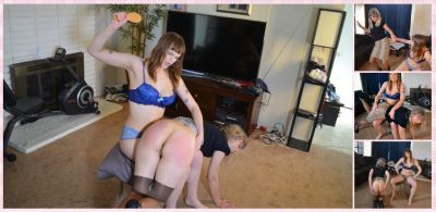 SpankingSororityGirls – Episode 216: Sailor Spanks Clare Over Party