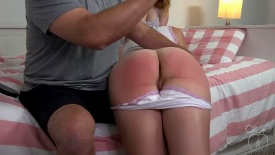 Maddy and Lizzy Spanked by stern Dad - Sleepover Shenanigans 3