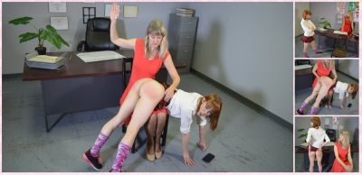 SpankingSororityGirls – Episode 214: Alexa Nova Spanked In The Office