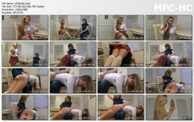 MySpankingRoommate - Episode 326: Schoolgirl Spanked by Mom