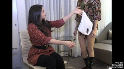 Alora Spanked by the Boss, Paddled, Strapped and Penalty Swats
