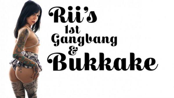 Bukkake - Rii's First Gangbang & Bukkake (19.11.2019) with TexxxasBukkake (HD/720p) [2019]