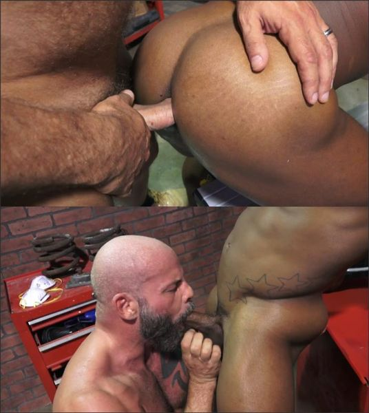 Rocco Steele's Dad's Bareback Collision Shop - Scene 4 AJ Marshall & Adrian Hart