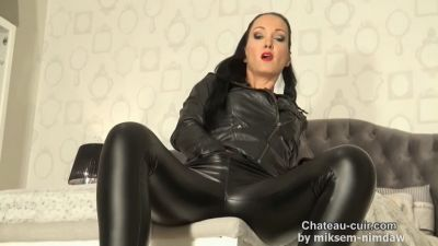 Double cum for My leather leggings