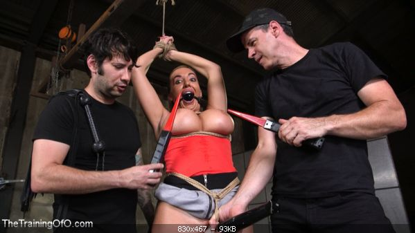 BDSMmania Big Ass-ed MILF Richelle Ryan Trained and Fucked in Rope Bondage!!