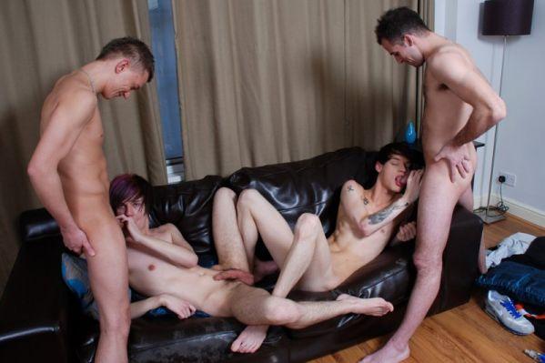 STX - Fraser Jacs & Josh Jared fuck Skye Romeo and Jaye Elektra