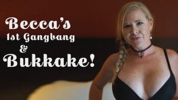 Bukkake - TexxxasBukkake - MilfBecca 1st Bukkake Gangbang [HD 720p]