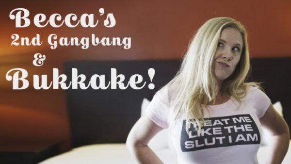 Bukkake - TexxxasBukkake - Milf Becca's 2nd Gangbang & Bukkake [HD 720p]