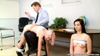 RealSpankingsNetwork – Roxie and Autumn: Spanked by Danny (Part 1)