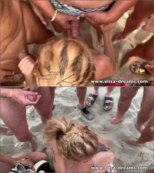 Elisa-Dreams - Elisa Dreams - Sex Challenge 2019 - Bukkake on the beach (45 guys) [FullHD 1080p]