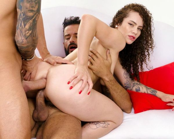 LegalP0rno - Dana Curly - Hot latina Dana Curly gets her first DP DVP SZ2318 [HD 720p]