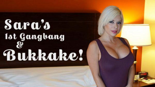 Bukkake - Sara St. Clair's 1st Gangbang/Bukkake (HD/720p) [2019]