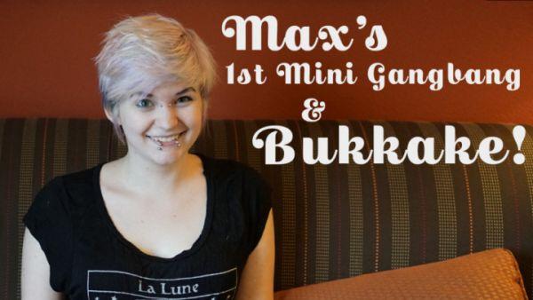 TexxxasBukkake - Maxs 1st Facials [HD 720p] (Bukkake)