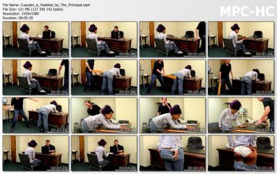 RealSpankingsNetwork - Cupcake is Paddled by The Principal